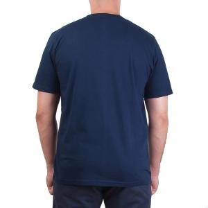 Koszulka POLSKY Basic Flaga Klasyczna - Granatowa