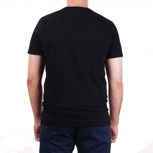 Koszulka POLSKY Basic Flaga Slim Fit O - Czarna