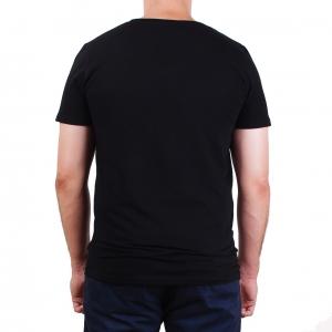 Koszulka POLSKY Basic Flaga Slim Fit V - Czarna