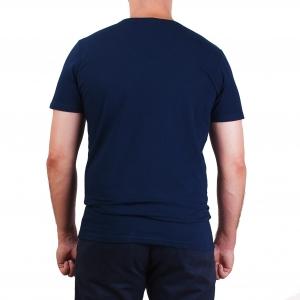 Koszulka POLSKY Basic Flaga Slim Fit V - Granatowa