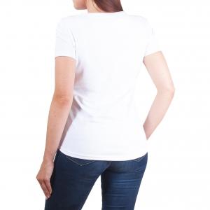 Koszulka POLSKY Basic Flaga Z Przedłużanym Tyłem - Biała