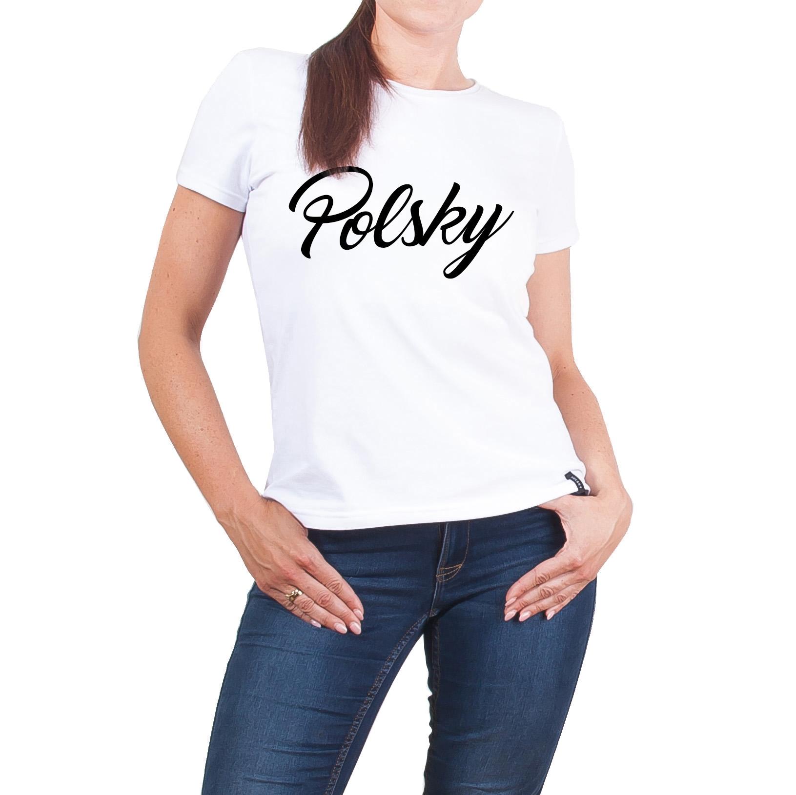 Damska Koszulka Typo Z Przedłużanym Tyłem